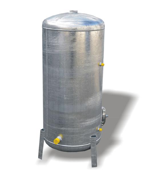 Pozinkovaná tlaková nádoba HVP 100L s vodoznakom